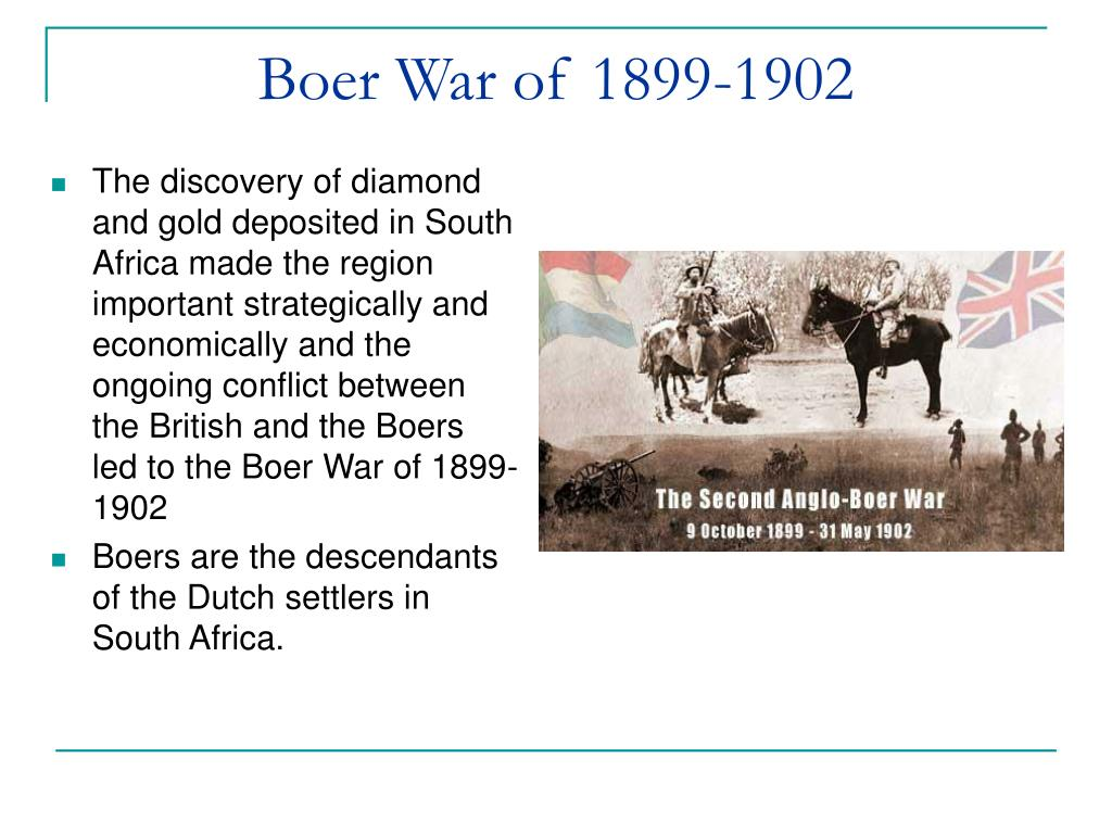 Boer War of 1899-1902