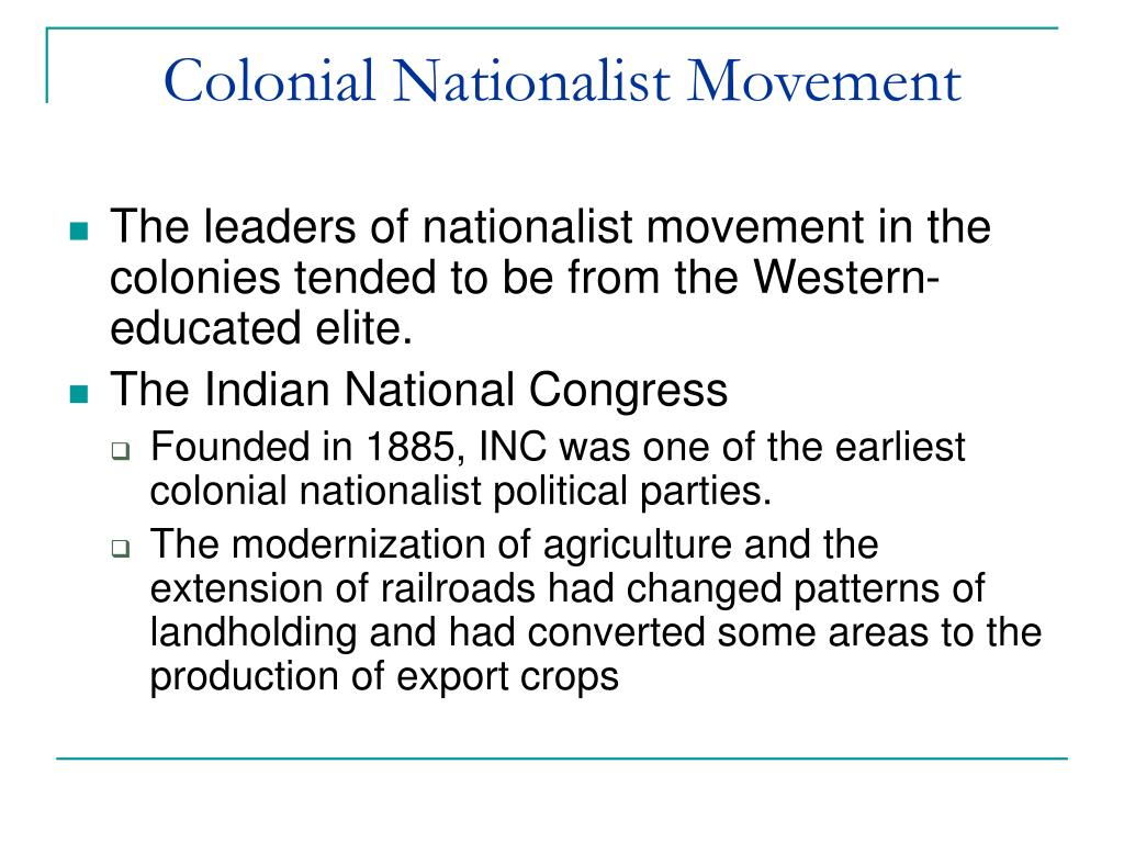 Colonial Nationalist Movement