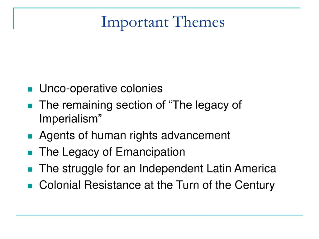 Important Themes