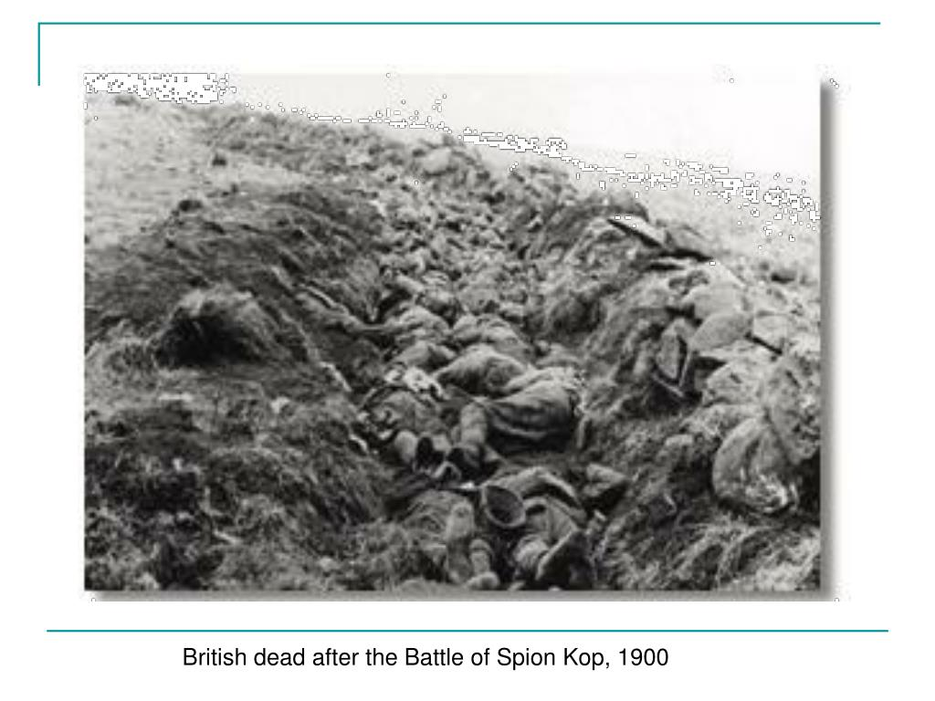 British dead after the Battle of Spion Kop, 1900