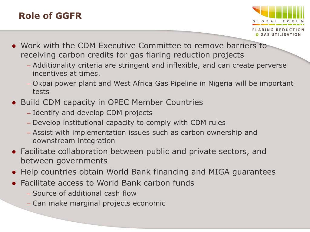Role of GGFR