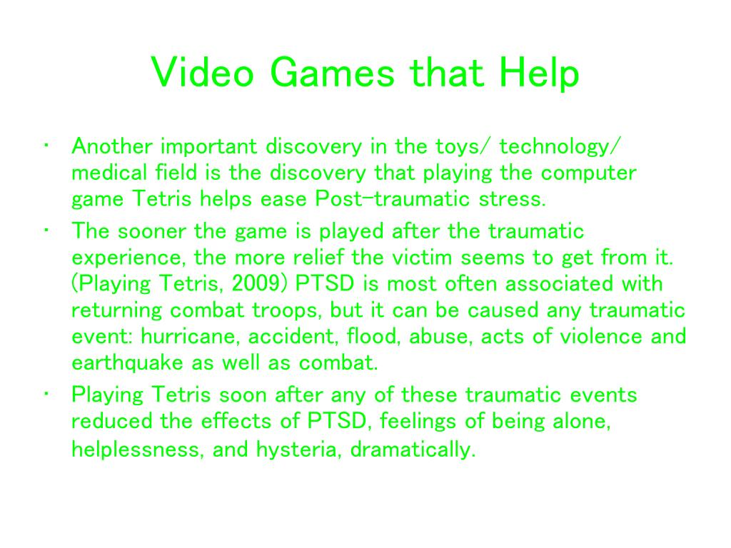 Video Games that Help
