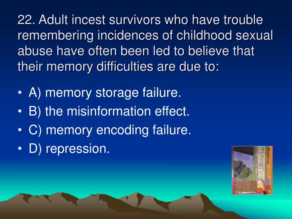 Sexual abuse implicit memory