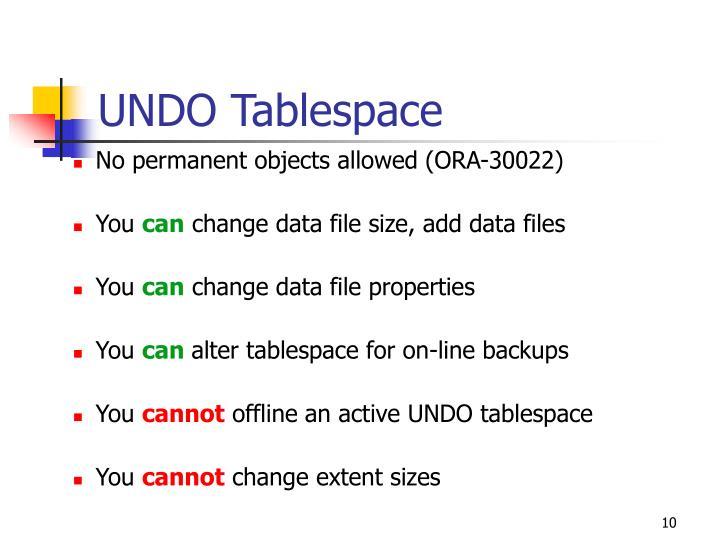 UNDO Tablespace