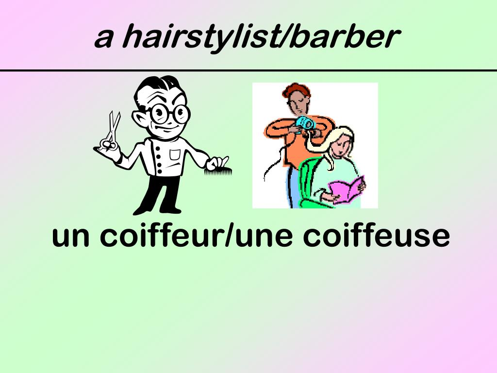 a hairstylist/barber