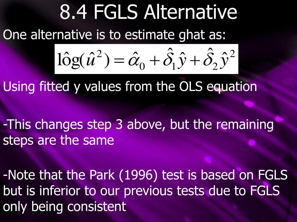 8.4 FGLS Alternative