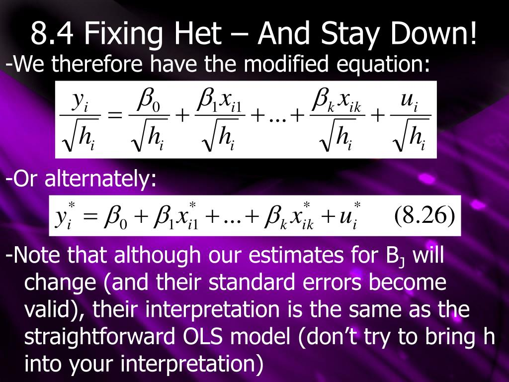 8.4 Fixing Het – And Stay Down!