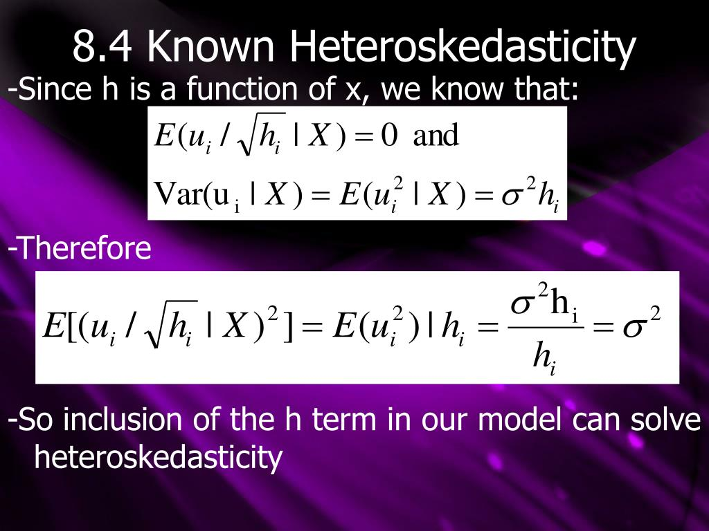 8.4 Known Heteroskedasticity