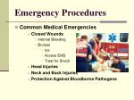 emergency procedures13