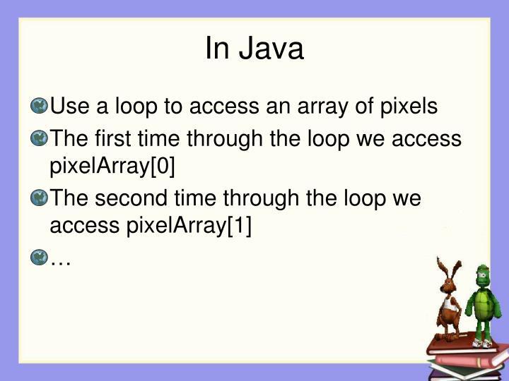 In Java