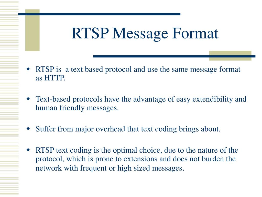 RTSP Message Format