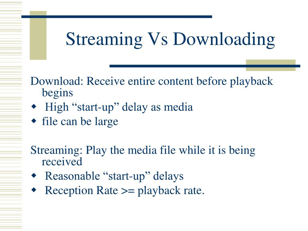 Streaming Vs Downloading