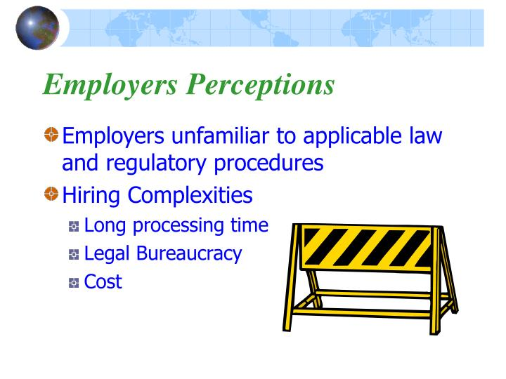 Employers Perceptions