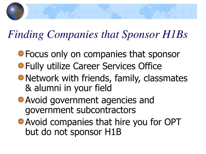 Finding Companies that Sponsor H1Bs