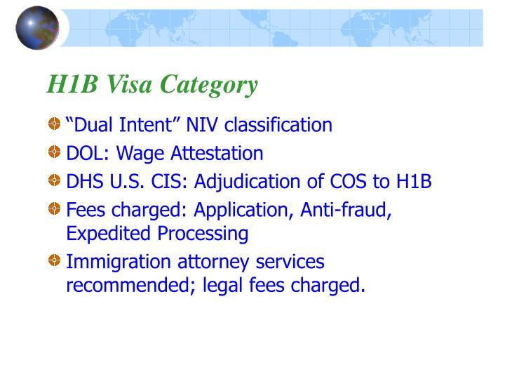 H1B Visa Category