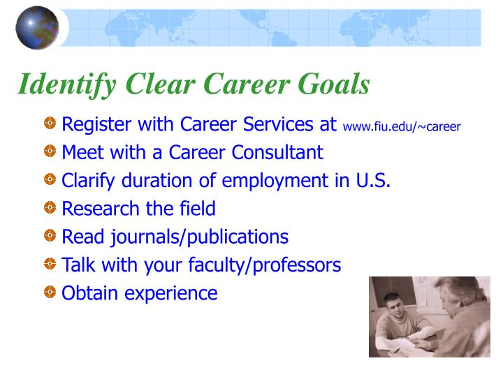 Identify Clear Career Goals