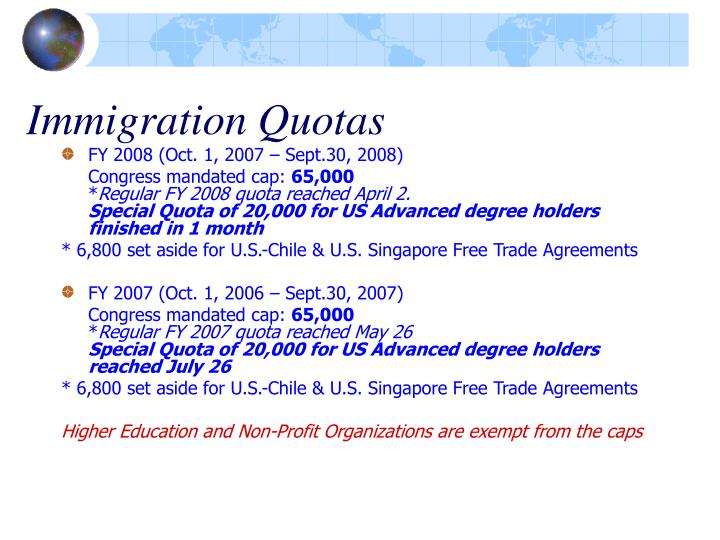 Immigration Quotas