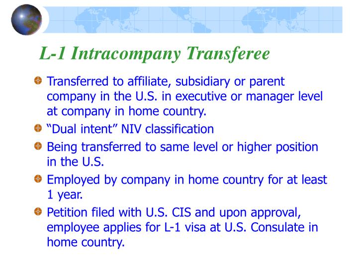 L-1 Intracompany Transferee