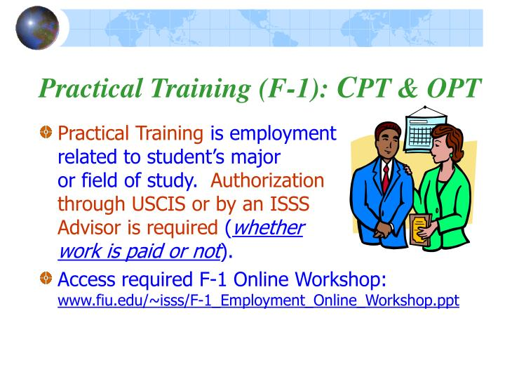 Practical Training (F-1):