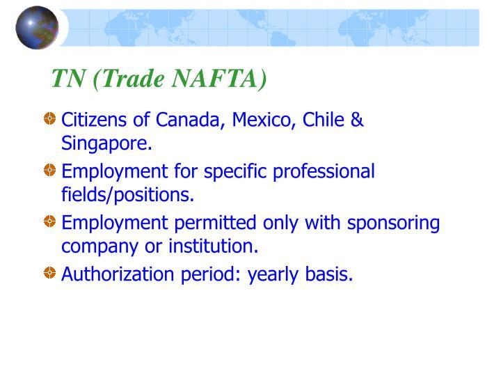 TN (Trade NAFTA)