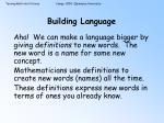 building language