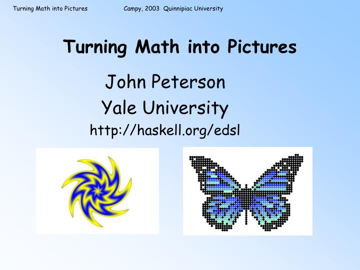 Turning math into pictures l.jpg