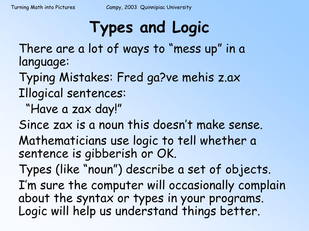 Types and Logic