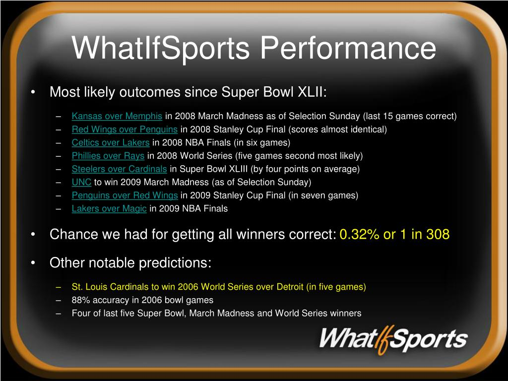 WhatIfSports Performance