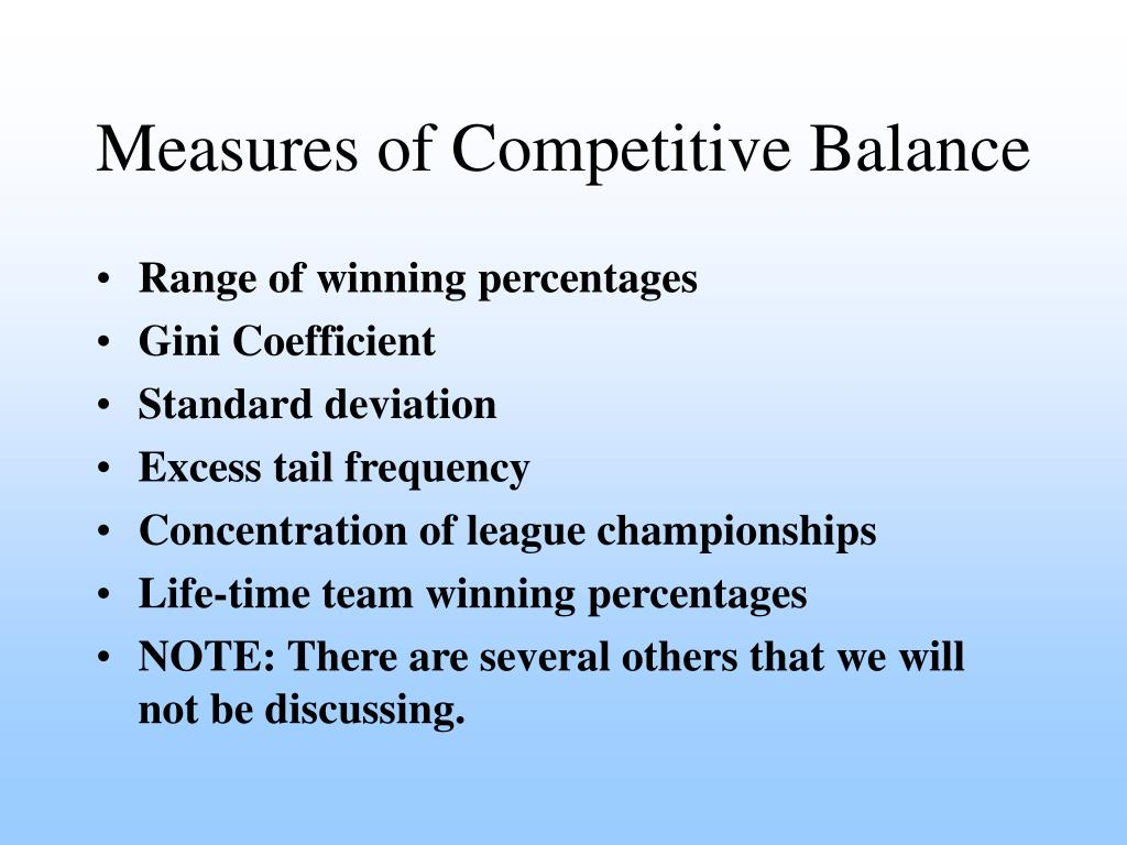Measures of Competitive Balance