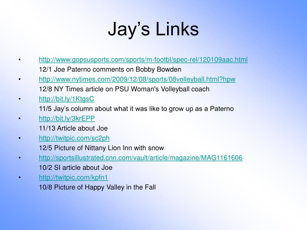 Jay's Links
