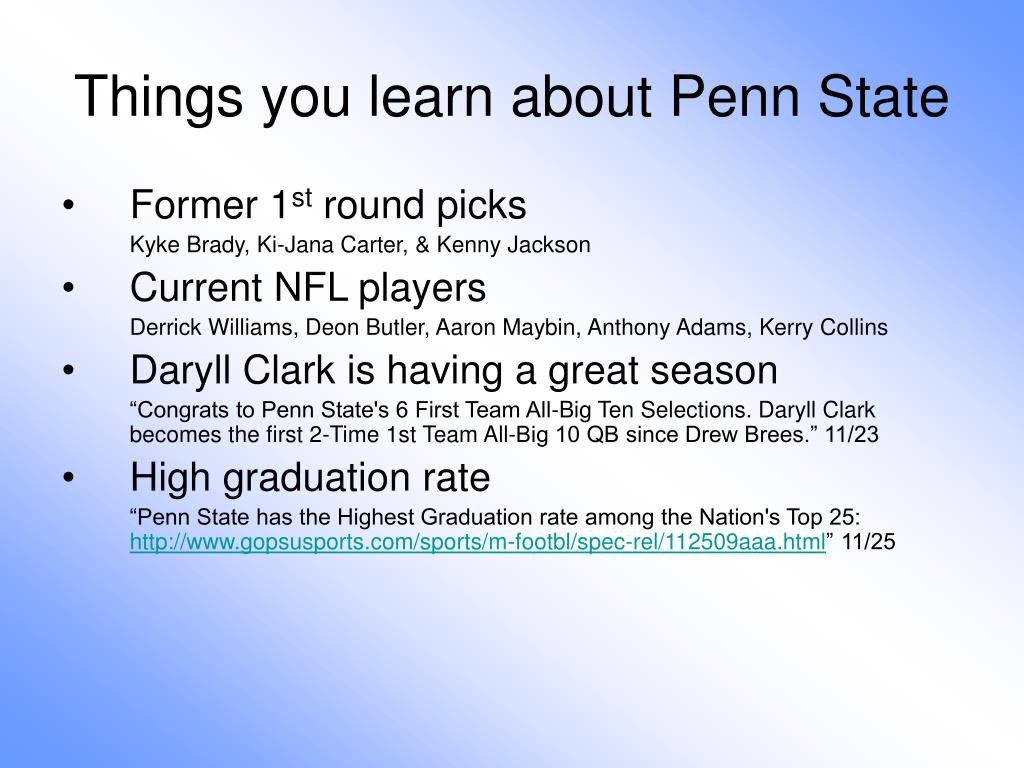Things you learn about Penn State