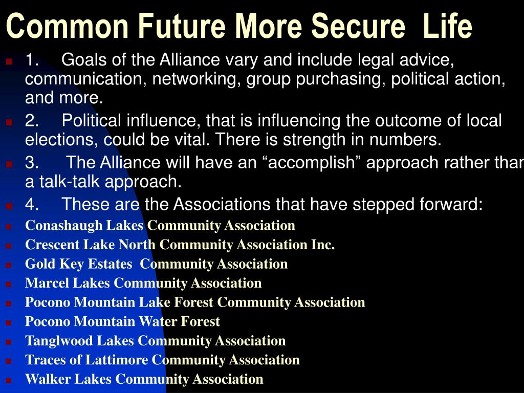 Common Future More Secure