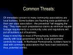 common threats