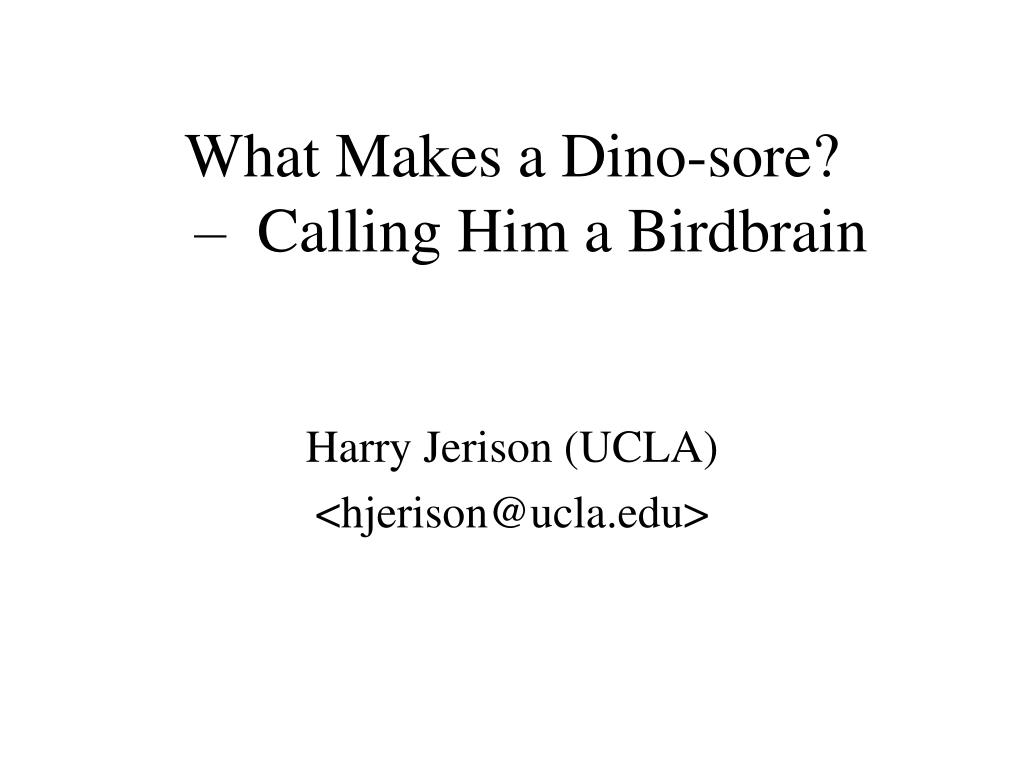 What Makes a Dino-sore?