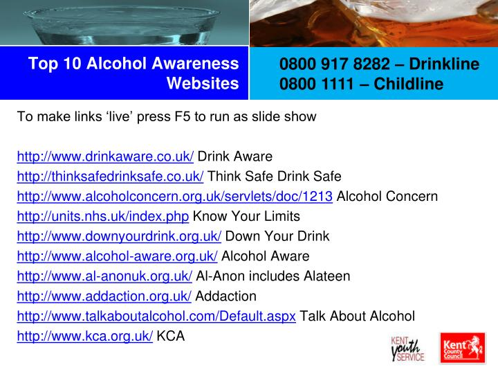 Top 10 alcohol awareness websites
