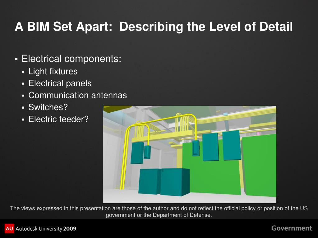 A BIM Set Apart:  Describing the Level of Detail