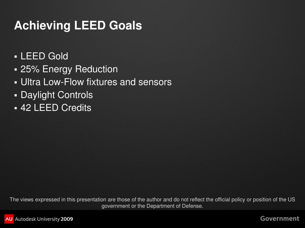Achieving LEED Goals
