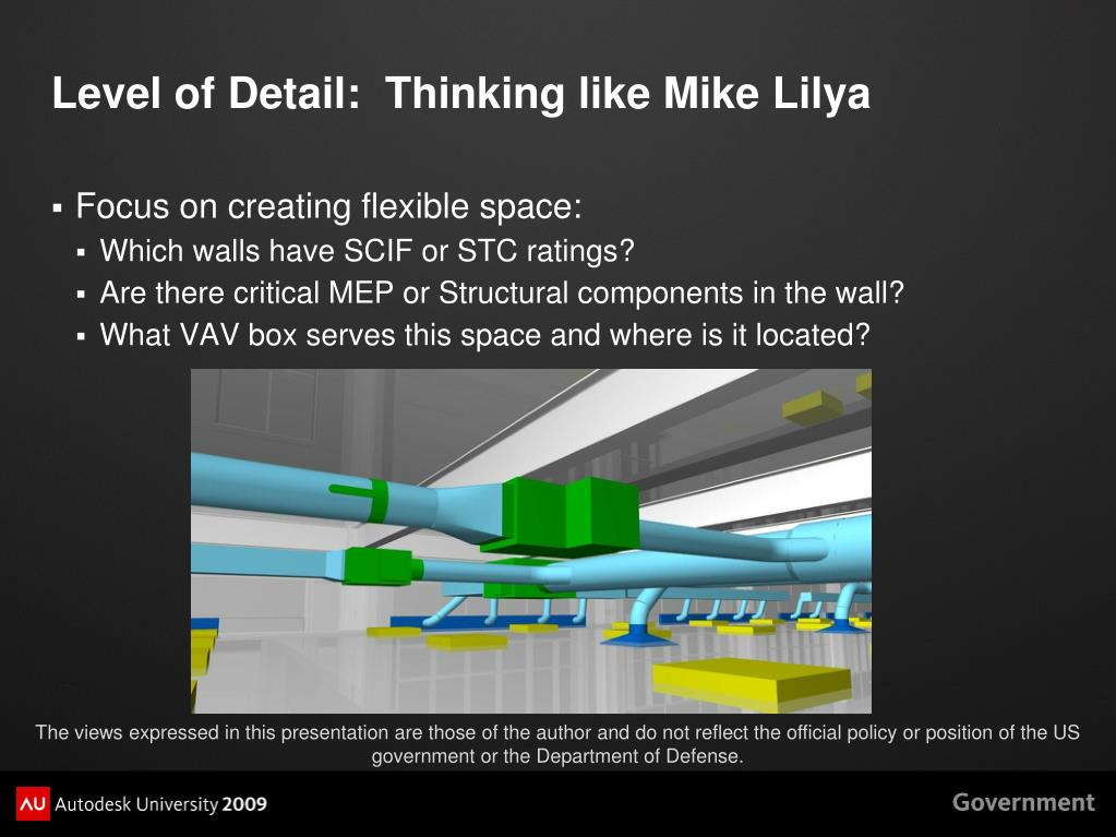 Level of Detail:  Thinking like Mike Lilya
