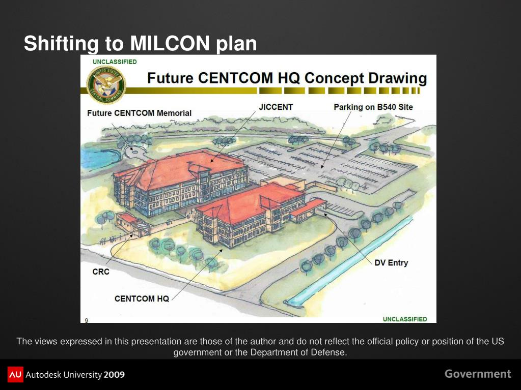 Shifting to MILCON plan