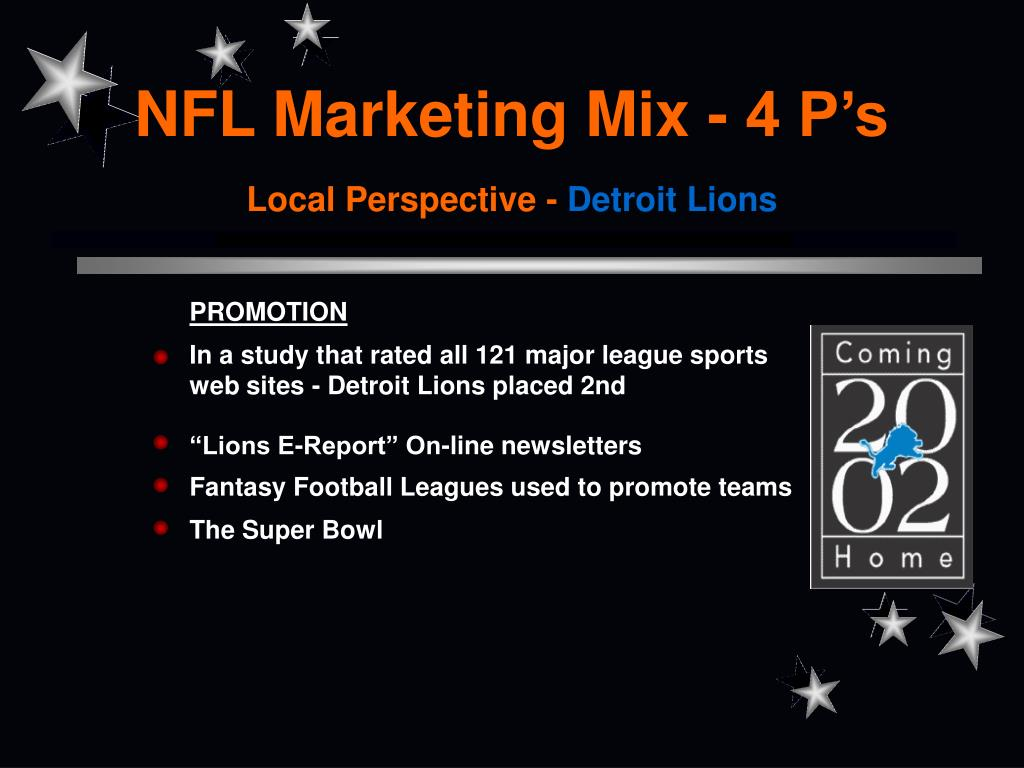 NFL Marketing Mix - 4 P's