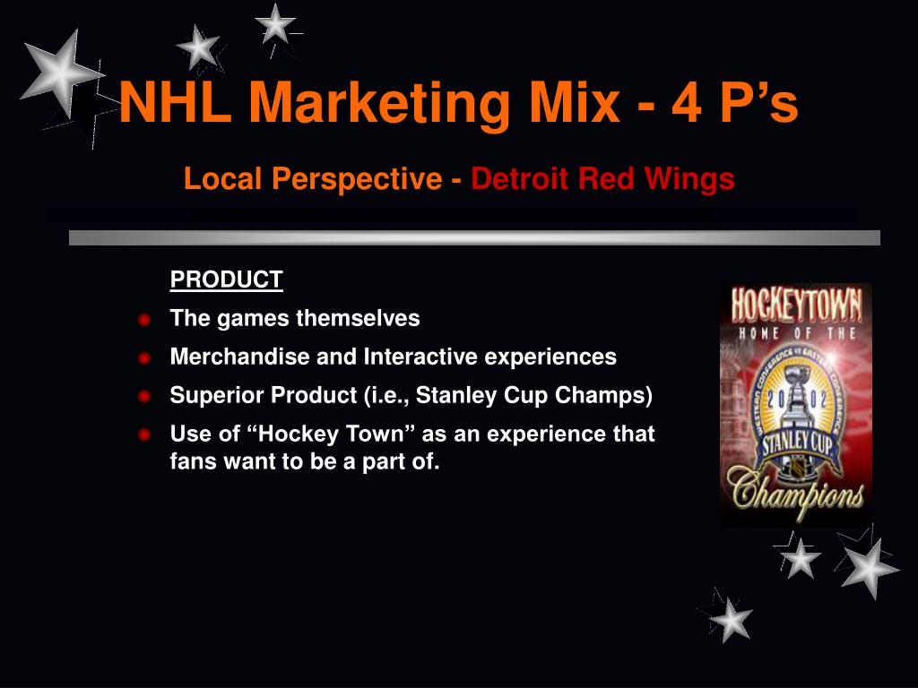 NHL Marketing Mix - 4 P's