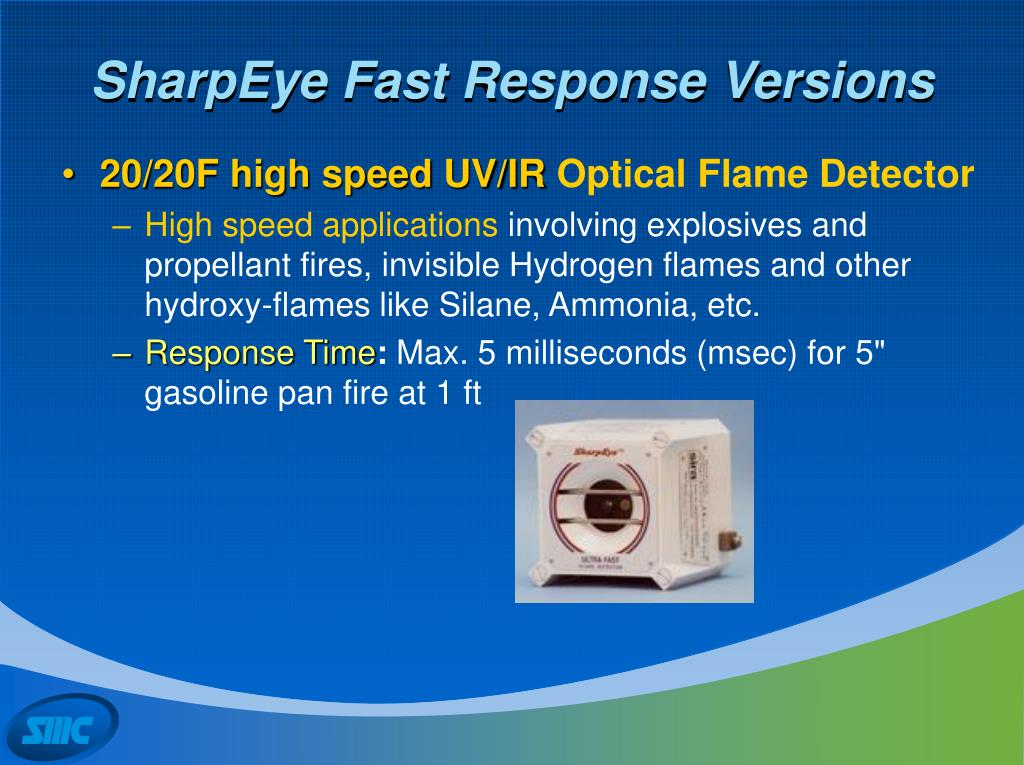SharpEye Fast Response Versions