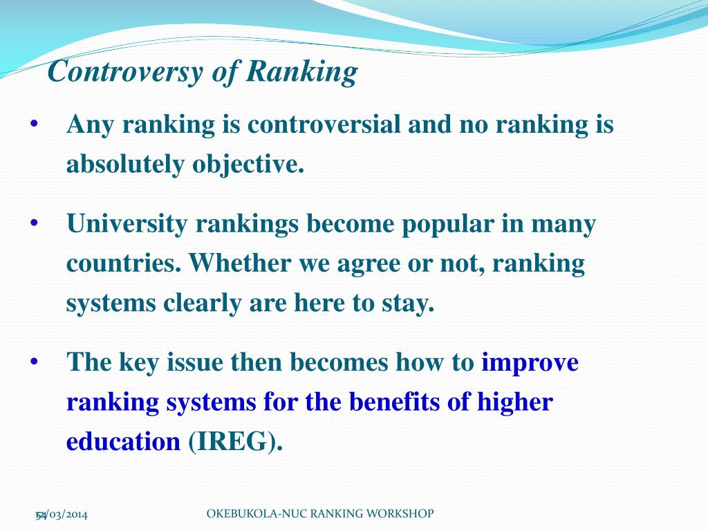 Controversy of Ranking