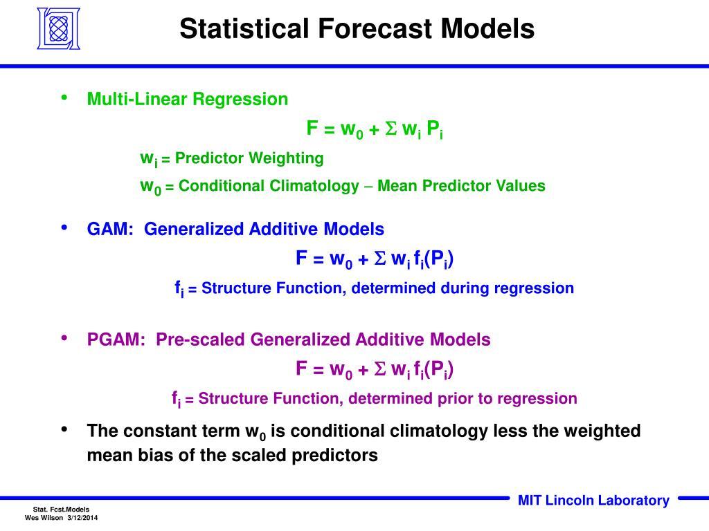 Statistical Forecast Models