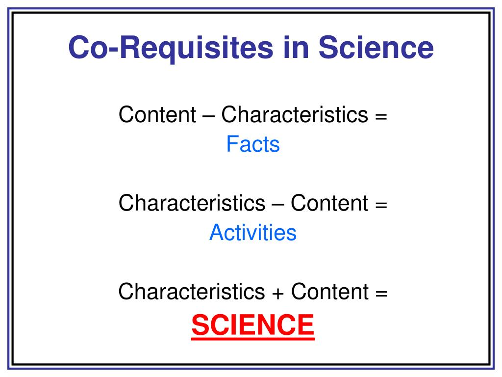 Co-Requisites in Science