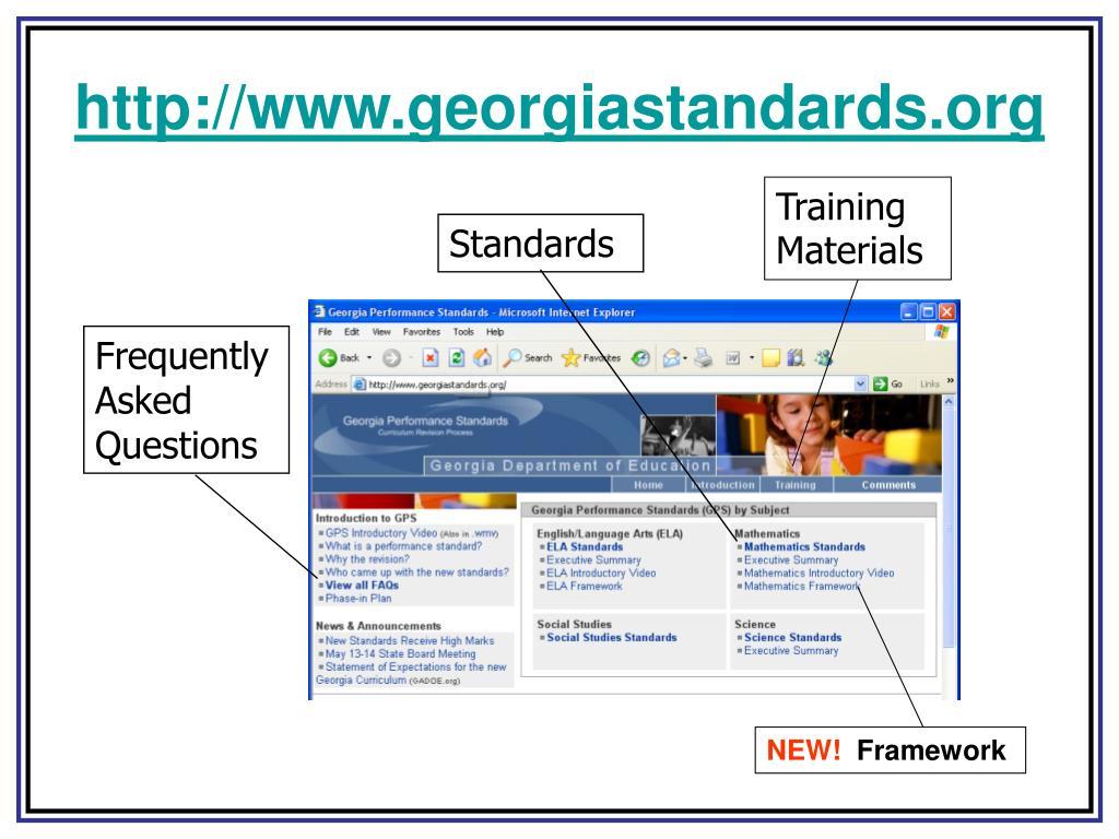 http://www.georgiastandards.org