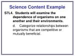 science content example
