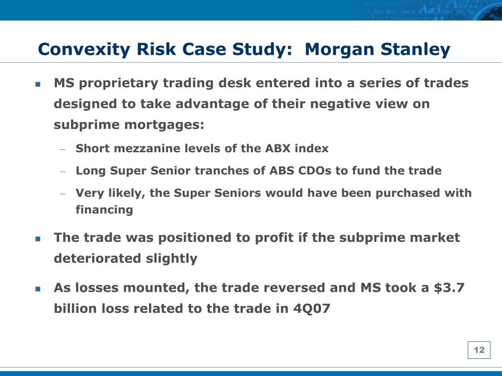 Convexity Risk Case Study:  Morgan Stanley