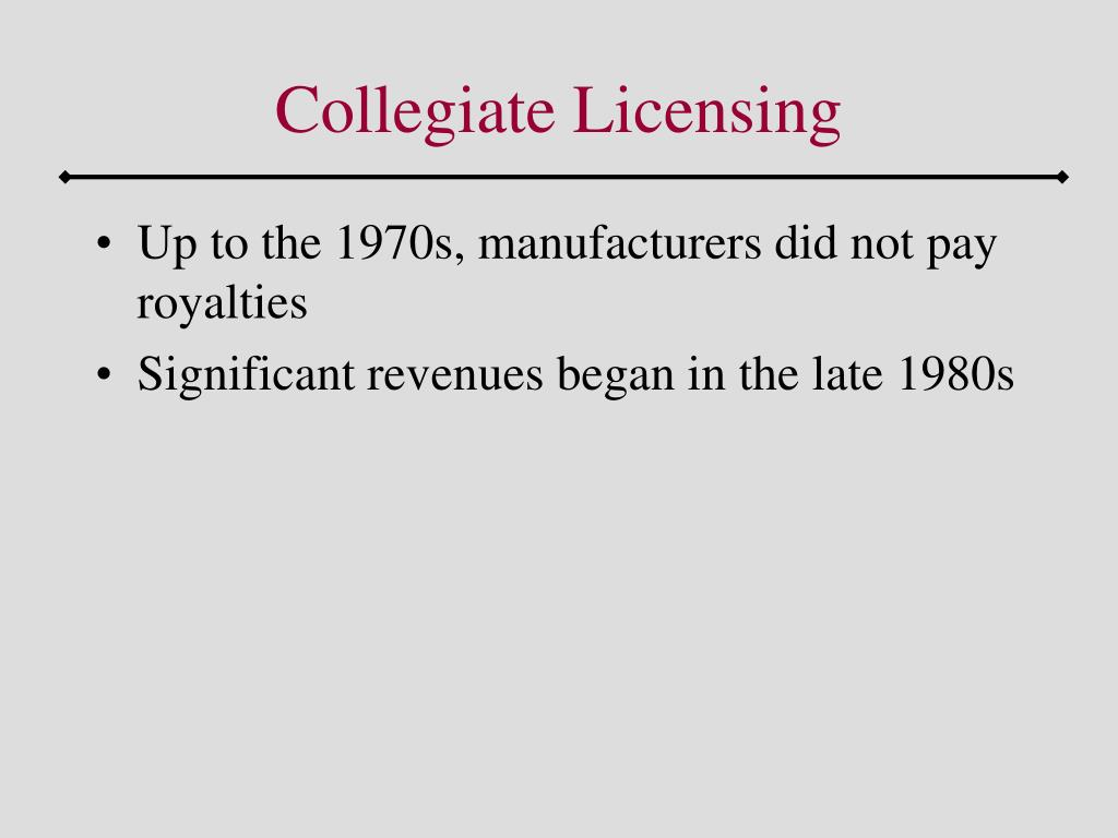 Collegiate Licensing