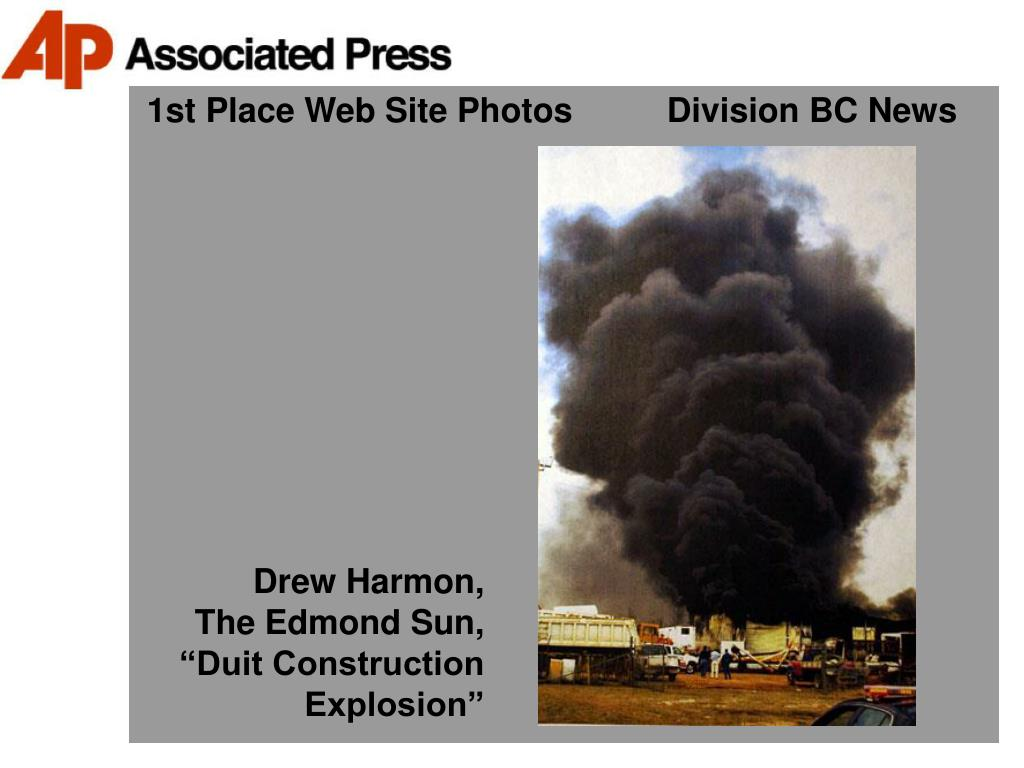 1st Place Web Site Photos          Division BC News